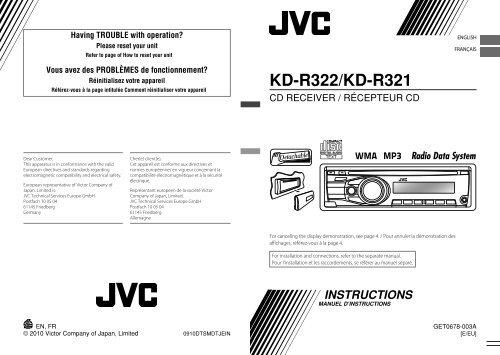 KD-R322/KD-R321 - Jvc