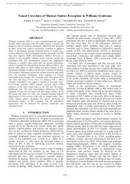 Neural Correlates of Musical Timbre Perception in Williams ... - icmpc
