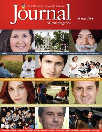 Winter 2008 - University of Winnipeg