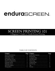 SCREEN PRINTING 101 - Signwarehouse.com