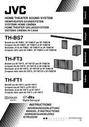TH-BS7 TH-FT3 TH-FT1 - Jvc