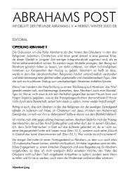 Herbst/Winter 2007/08 - Gesellschaft Freunde Abrahams e. V.