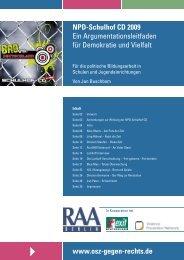 NPD-Schulhof CD 2009 - Ein Argumentationsleitfaden für ...