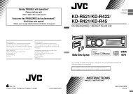 KD-R521/KD-R422/ KD-R421/KD-R45 - Jvc
