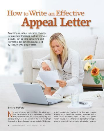 Tips on writing an excellent appeal letter?