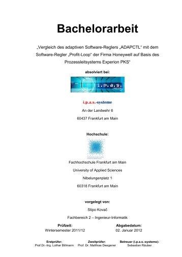 Bachelorarbeit - ipas - Systeme