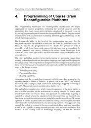 4. Programming of Coarse Grain Reconfigurable Platforms