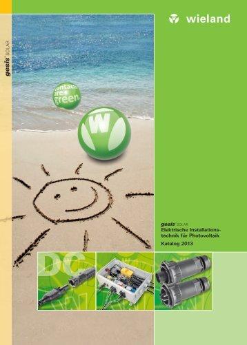Photovoltaik - Broschüre - Wieland Electric