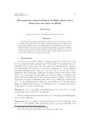 The projective characterization of elliptic plane curves which have ...