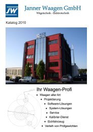 Katalog (pdf 4,2 MB) - Janner Waagen GmbH