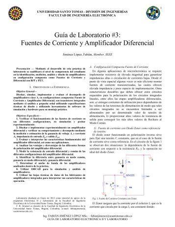 Guía de Laboratorio #3: Fuentes de Corriente y Amplificador Diferencial