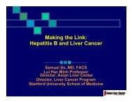 Hepatitis B and Liver Cancer - Asian Liver Center - Stanford University