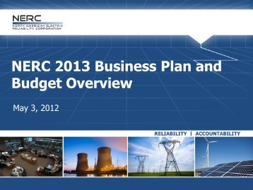 NERC 2013 Business Plan and Budget Overview
