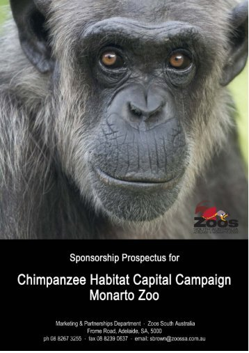 The Chimpanzee Habitat Capital Campaign - Zoos South Australia