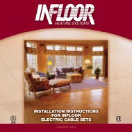Electric Cable Installation - Comfort Products, Inc.