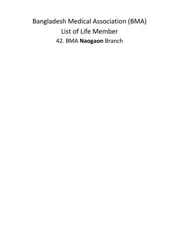 Naogaon - BMA