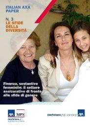 ITALIAN AXA PAPER n. 3 LE SFIDE DELLA DIVERSITà