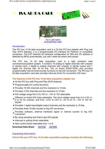 Data Acquisition Card : Ics bl bit data acquisition board voxtechnologies