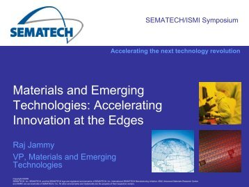 Materials And Emerging Technologies - Sematech