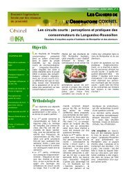 Les circuits courts - INRA Montpellier
