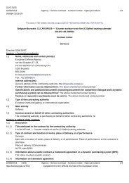 13.CAP.OP.619 Contract Notice - European Defence Agency - Europa