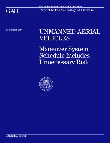 NSIAD-95-161 Unmanned Aerial Vehicles - US Government ...