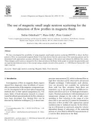 The use of magnetic small angle neutron scattering for the detection ...
