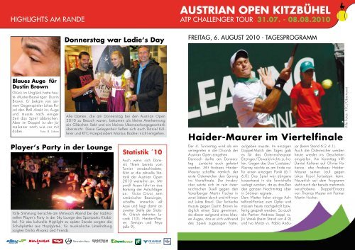 Austrian Open News - Kitzbühel