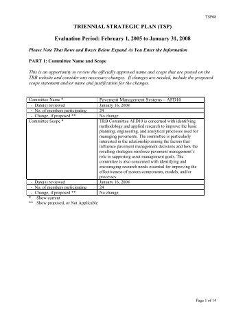 Evaluation Period: February 1, 2005 to January 31, 2008