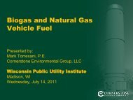 Biogas and Natural Gas Vehicle Fuel - Wisconsin Public Utility Institute