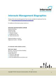 management team biographies (.pdf) - Interoute