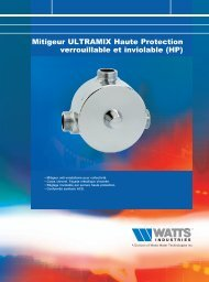Mitigeur ULTRAMIX Haute Protection verrouillable ... - Watts Industries