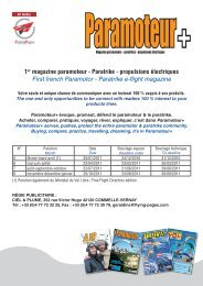 1er magazine paramoteur - Paratrike - propulsions ... - WIDOLA.com