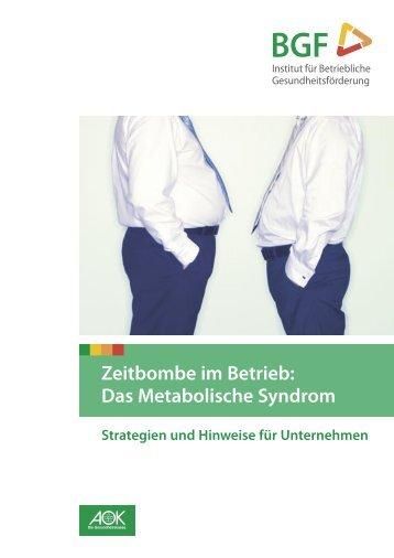 Das Metabolische Syndrom - Institut für Betriebliche ...