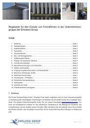 Regelwerk für den Einsatz von Fremdfirmen in der ... - Emsland Group