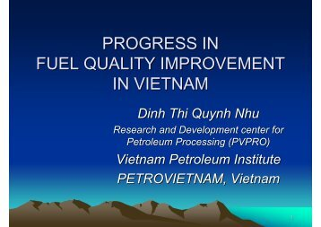 PROGRESS IN FUEL QUALITY IMPROVEMENT IN VIETNAM