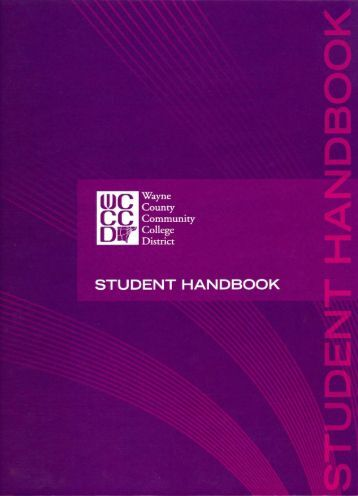 to view the Student Handbook - Wayne County Community College