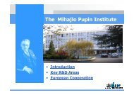 The Mihajlo Pupin Institute - Green project