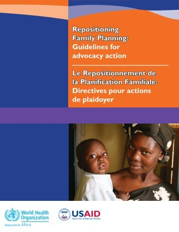 Repositioning Family Planning - World Health Organization