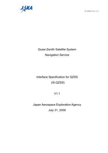 Quasi-Zenith Satellite System Navigation Service Interface ...