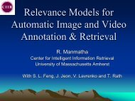 Statistical Models for Automatic Video Annotation & Retrieval