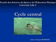 Cycle central - Faculté des sciences du sport et de l'éducation ...