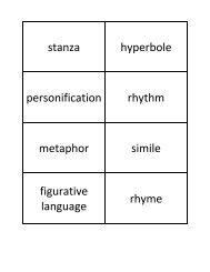 stanza hyperbole personification rhythm metaphor simile figurative ...