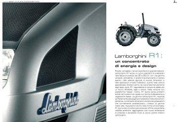 trattori lamborghini r1 - Attrezzature Agricole
