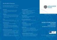 mobilitätsprogramm erasmus - Institut für Internationale Entwicklung ...