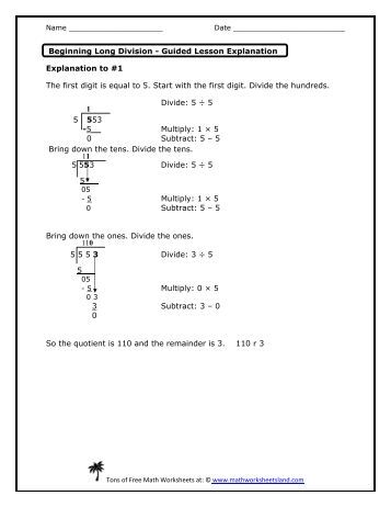 beginning long division worksheets ~ Brandonbrice.us