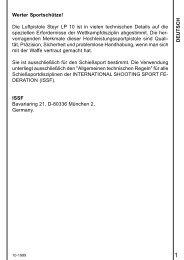 DEUTSCH Werter Sportschütze! Die Luftpistole Steyr ... - Field Target