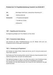 Protokoll der 10. Sitzung 06.04.2011 - Stadterneuerung Gelsenkirchen