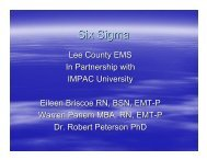 Six Sigma - Lee County Emergency Medical Services