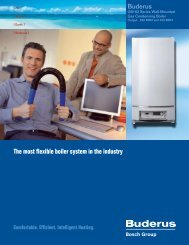The most flexible boiler system in the industry - Buderus
